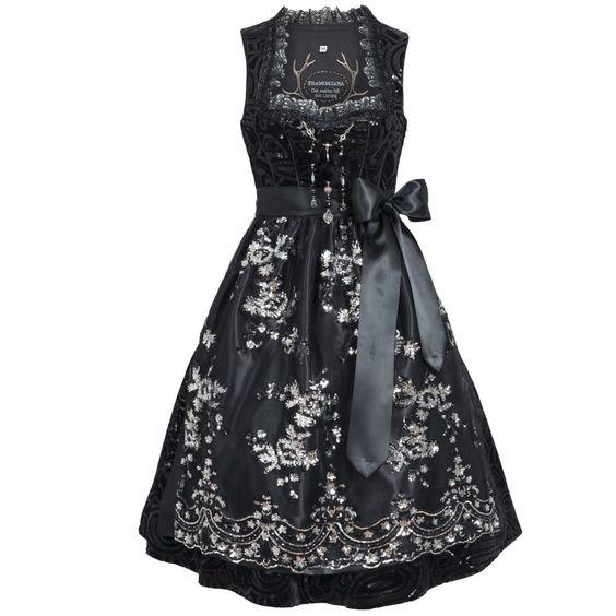 Midi Dirndl Caroline in black Tramontana: Amazon.de: Clothing
