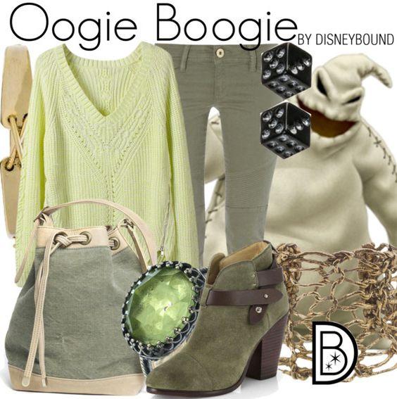 Get the look!  Oogie Boogie (Nightmare Before Christmas) http://disneybound.tumblr.com/