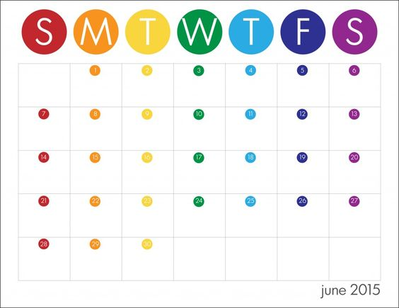 Check Out 2015 June Calendar Template, Word, Excel, Doc, Vertex