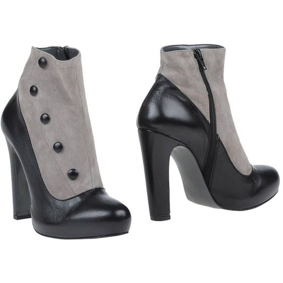Ovye' By Cristina Lucchi Ankle Boots ($135) ❤ liked on Polyvore featuring shoes, boots, ankle booties, black, black shootie, black bootie boots, black boots, black zip boots and zip ankle boots