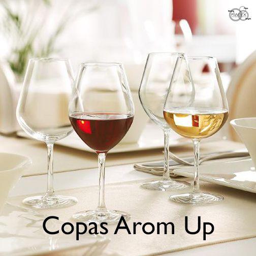 Copas Arom Up, las copas que realzan el aroma de cada vino.