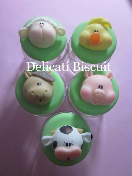 Farm Cupcakes Adorable If I Had Another Boy These Would
