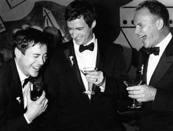 Robert Downey Jr., Hugh Jackman and Sting