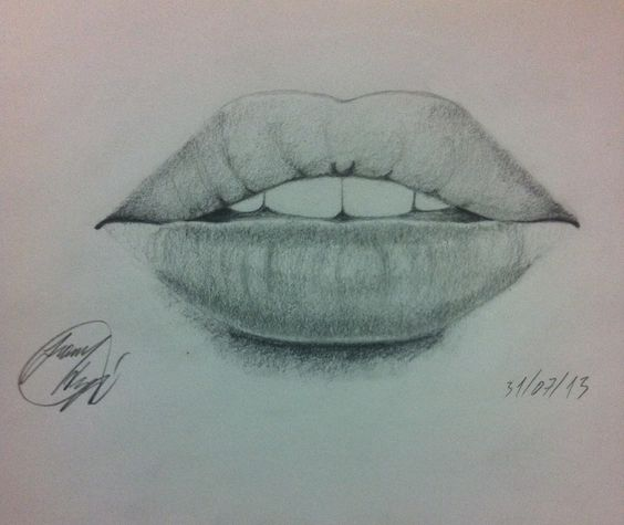 #lips #mouth #drawing #realistic #pencil | My Drawings ...