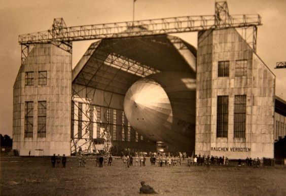 The launch of a Zeppelin (note the 'no smoking' sign)  Picture: BNPS.co.uk