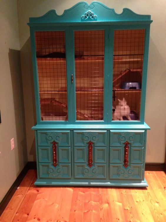 ♥ Pet Rabbit Ideas ♥  DIY Rabbit Hutches From Upcycled Furniture: