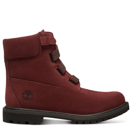 Premium 6 Inch Pull On Boot for Women in Burgundy