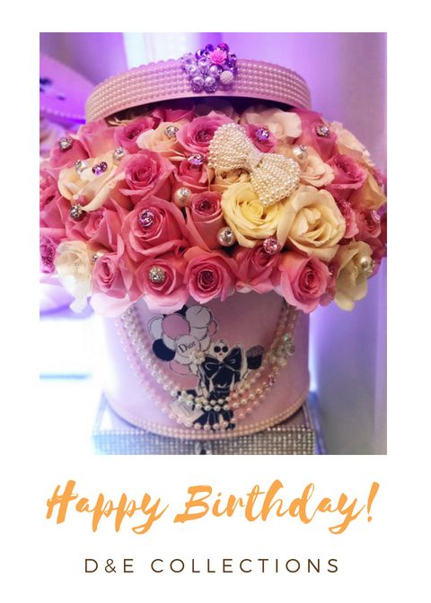 Happy Birthday Gift Set Flower Box Idea Flower Box Centerpiece