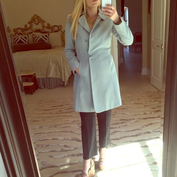 Emporio Armani Blue and White Coat NWT | Coats Robins and It is