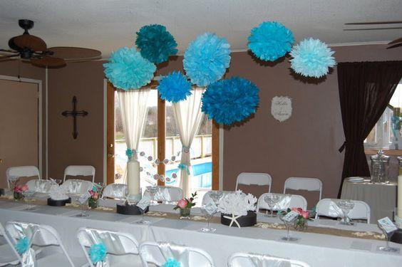 Bridal Shower Gift Destination Wedding : Room setup for bridal shower Beachy theme Destination wedding to come ...