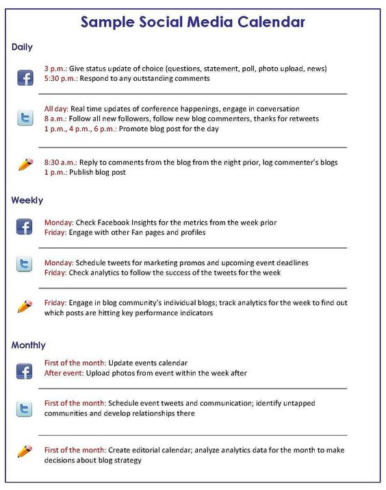 Social Media Marketing - How to Get a Handle on Your Social Media - social media plan template
