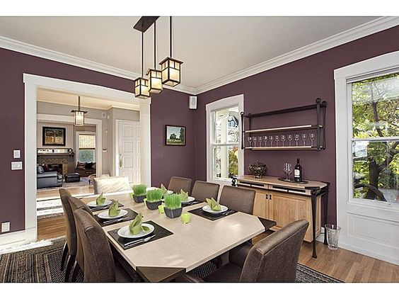 eggplants purple dining rooms and colors on pinterest. Black Bedroom Furniture Sets. Home Design Ideas