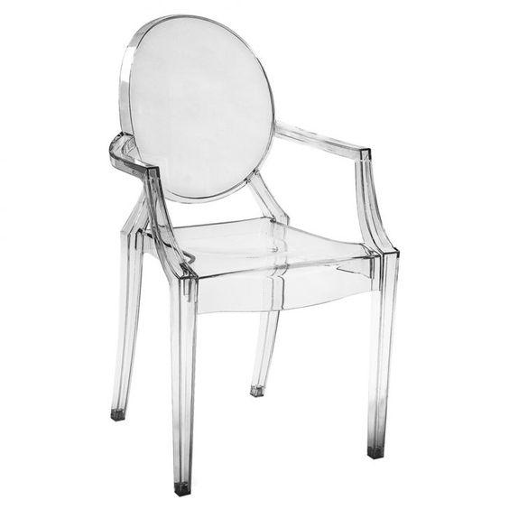 Cadeira Sala de Jantar Crystal Transparente