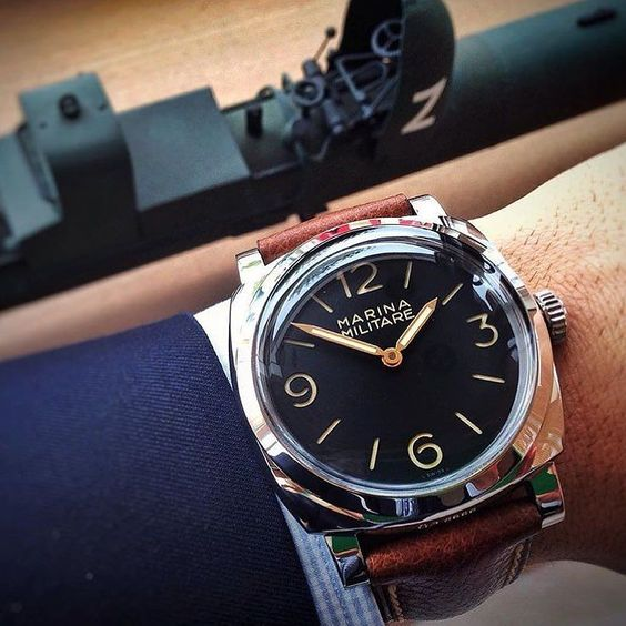 Some #Panerai DNA to start this day.  The #Panerai PAM587 Marina Militare pic by buddy @kiril_official.  A special shout out to a Panerai superfan @joedinardo. Being a good friend of @lifeofyoni is a daunting task so we wanted to commend him in someway.  by paneraicentral