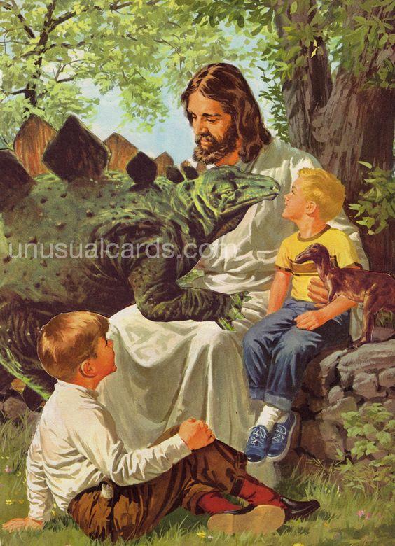 Jesus Loves The Little Children Large Print