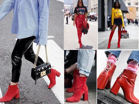 Bota vermelha – Como usar e onde comprar o calçado que vai ser febre no Inverno 2018