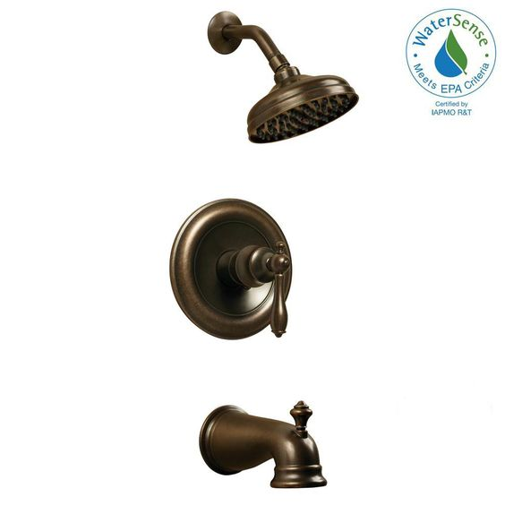 Glacier Bay Estates Single Handle 1 Spray Tub And Shower Faucet In