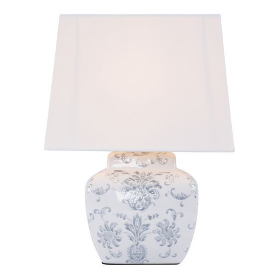Bush Flower Ceramic Jar Table Lamp 46cm Lighting Fans Jar Table Lamp Table Lamp Lighting Lamp