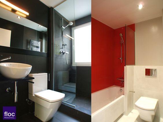 #Decoracion #Moderno #Baño #Sanitarios #Antes y despues #Vidrio #Espejos #Griferia