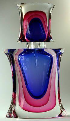 Arte Vetro Gallery, Glass Art Gallery in Israel, Four Corner Bottle❤ ❤ ❤
