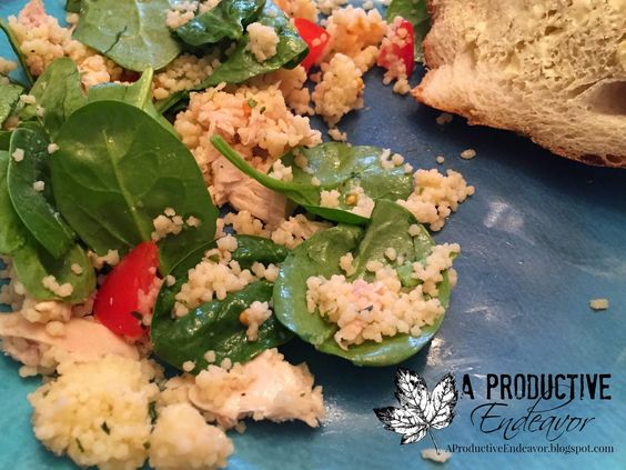 A Productive Endeavor: Simple coucous chicken salad