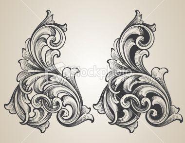 intertwining engraved scrolls royalty free stock vector art illustration tattoos ideas. Black Bedroom Furniture Sets. Home Design Ideas