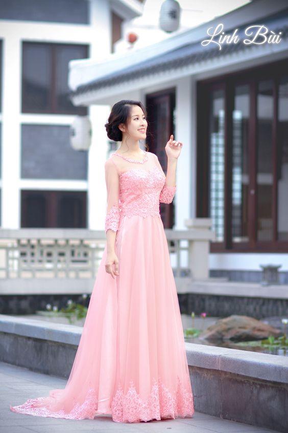 Áo dài ren cách tân đuôi cá sự lựa chọn hoàn hảo cho cô dâu hiện đại
