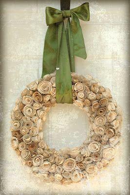 book wreath!