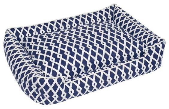Jax and Bones Lounge Bed - Gateway - Blue & White - Free Shipping