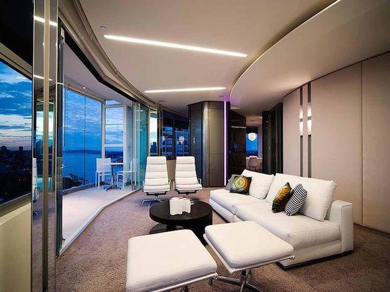 Moderne Starlit Chaiselongue Aus Olivenholz | Wohnzimmer In Charcoal Farbe Und Zwei Xxl Sessel Statt Sofa