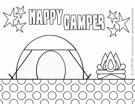 Studios Coloring pages and Camping