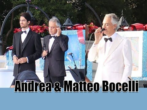 Andrea Bocelli And Matteo Bocelli Ave Maria Disney Holiday Filming