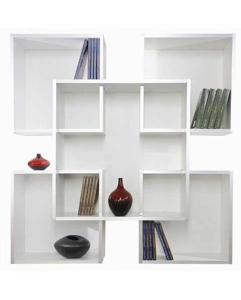 Libreria da muro parete design moderna in legno librerie scaffali ...