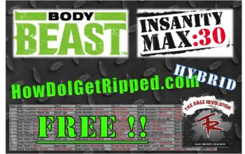 Free Body Beast Max:30 Hybrid - My new hybrid workout schedule is HERE – Body Beast Max:30 Hybrid! This program will be amazing, combining two of my all-time favorite workouts including Body Beast and the new Insanity Max:30!