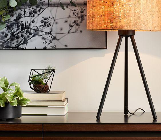 ciekawe lampy stojące do salonu