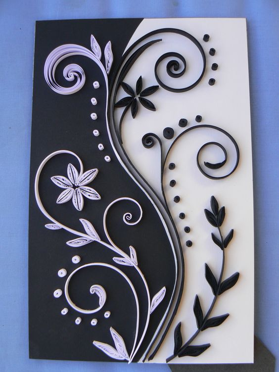 noir et blanc quilling1 pinterest beautiful paperolles et noir. Black Bedroom Furniture Sets. Home Design Ideas
