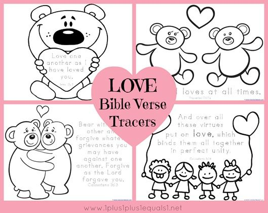 Love Bible Verse Coloring and Tracing | Bible Story Crafts ...