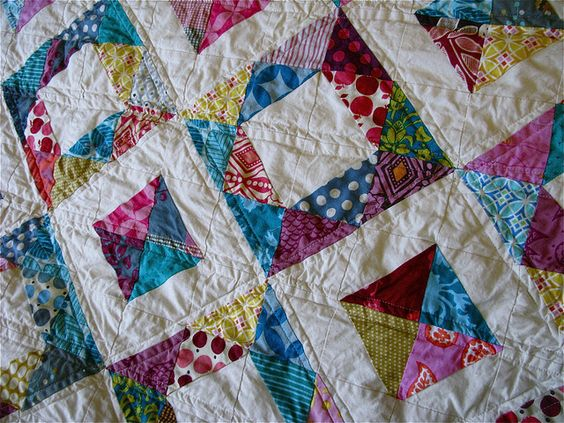 { geometric squares quilt } by { philistine made }, via Flickr