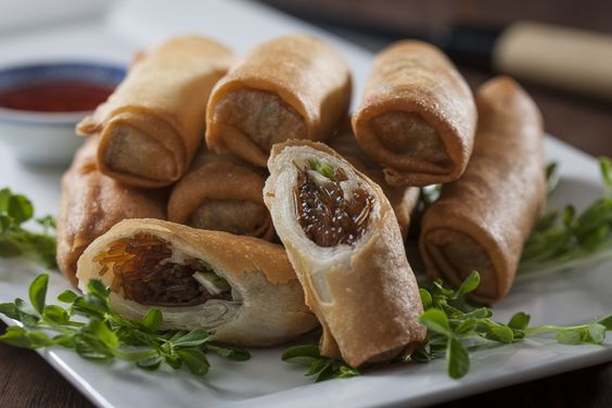 """Spring Rolls - Australian Flavours. Many multicultural Australians will be celebrating Chinese New Year, and 2015 is the year of the """"Goat"""" (and or the sheep or ram). To celebrate with them this year, present these simple and tasty Mushroom Spring Rolls to be shared with all your friends. Made with the finest mushrooms produced in Australia, they are a definite winner. Happy New Year!"""