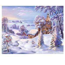 5d diy diamant peinture point de croix diamant broderie paysage paysage d'hiver motif loisirs et artisanat diamant mosaïque(China (Mainland))