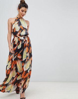 Y.A.S - Robe longue dos nu à imprimé tropical