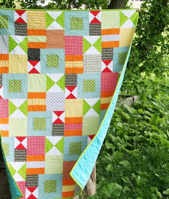 love the colors of this quilt by allison of cluckclucksew.