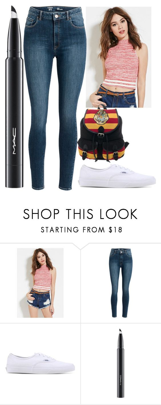 """Untitled #1449"" by perbhaatkhowaja on Polyvore featuring Forever 21, Vans and MAC Cosmetics"