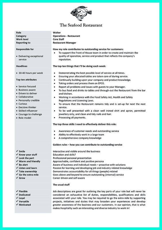 11 Sample Resume For Restaurant Manager Riez Sample Resumes - restaurant skills resume