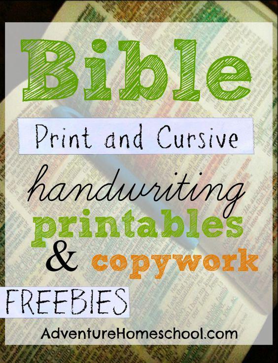 FREE Bible verse worksheets: print and cursive handwriting practice