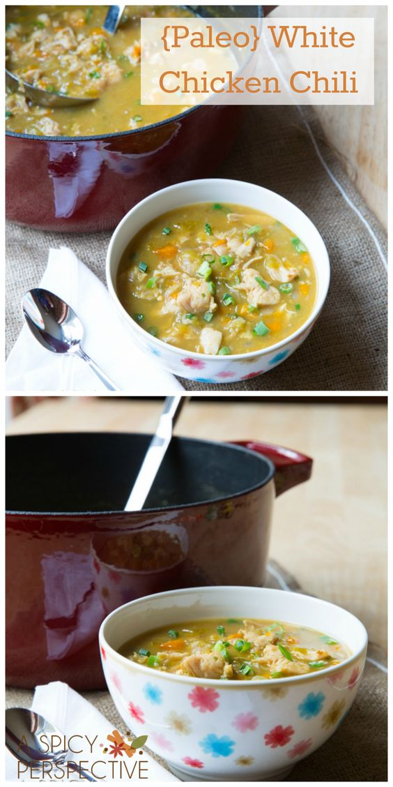 {Paleo} White Chicken Chili ***I want to be your free coach. I love helping people reach their goals! Sign-up today! No credit card needed! It's FREE!: https://www.teambeachbody.com/tbbsignup/-/tbbsignup/free?referringRepId=543655