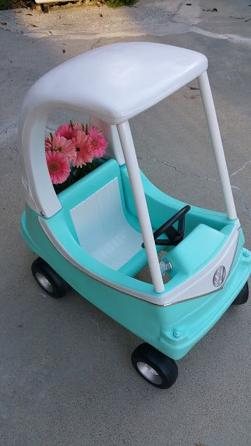 AFTER Cozy Coupe Make Over Little Tikes Volkswagen VW bug Bus