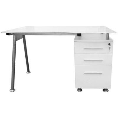 Sodimac sm escritorio con tapa de vidrio 3 cajones for Escritorio de vidrio
