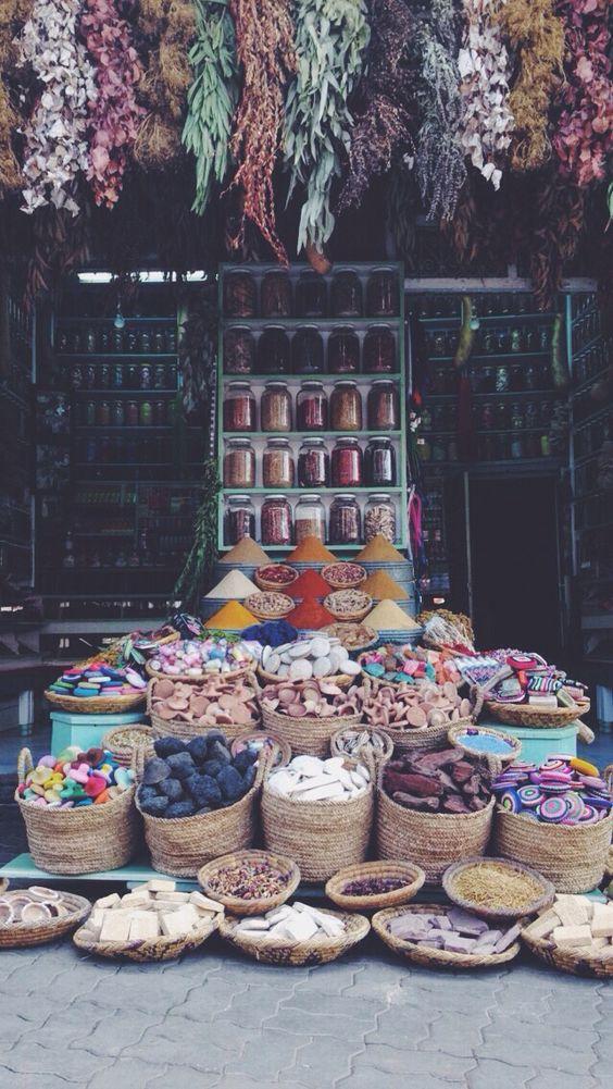 Marrakesh rainbow market