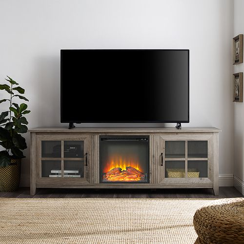 29+ Farmhouse tv stand with fireplace 70 inch info